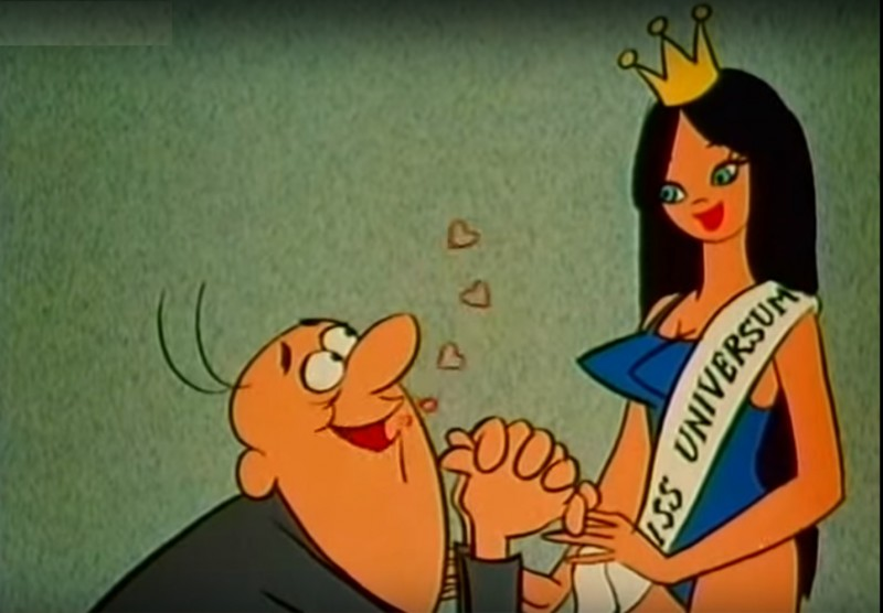 "A screen shot from the cartoon ""Gustav Wants to Marry."""