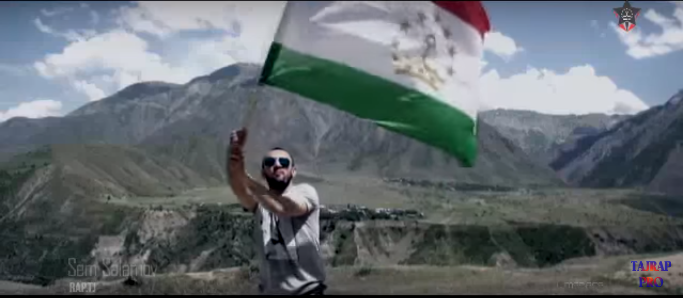 "Screenshot from music video ""Tajikistan"" by rappers Abada, Mr. Skap, and Sam Salamov. Uploaded on YouTube by TAJRAP on April 6, 2016."