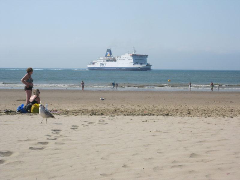 Calais Ferry Beach