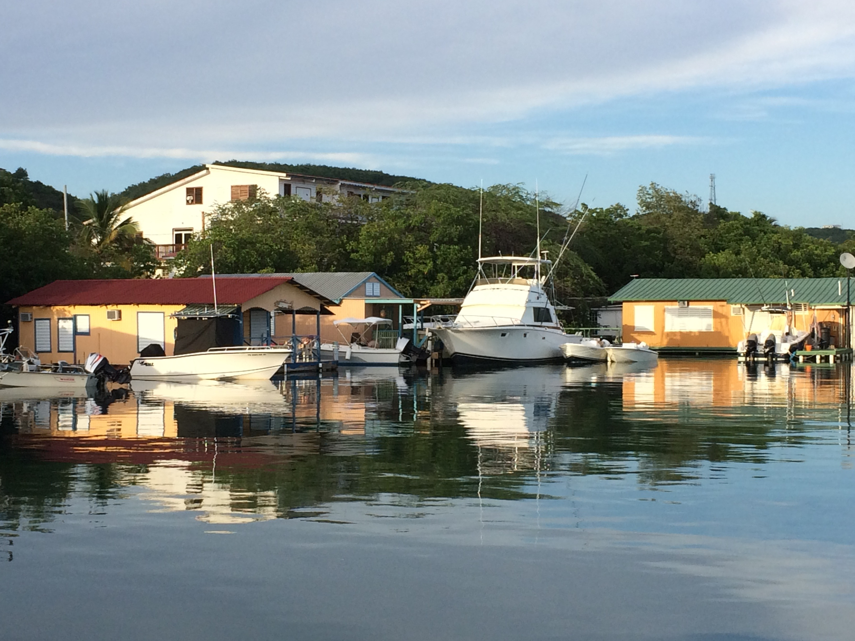 Boat houses in La Parguera, Lajas, Puerto Rico. Photo courtesy Alberto Marty.