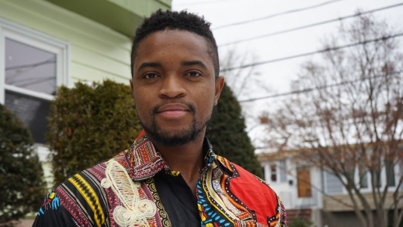 Jefferson Krua fled Liberia as a refugee at age 5, and eventually settled in Boston, MA. Recently, he's moved back to Liberia to help with re-building the country's infrastructure. Credit: Heidi Shin
