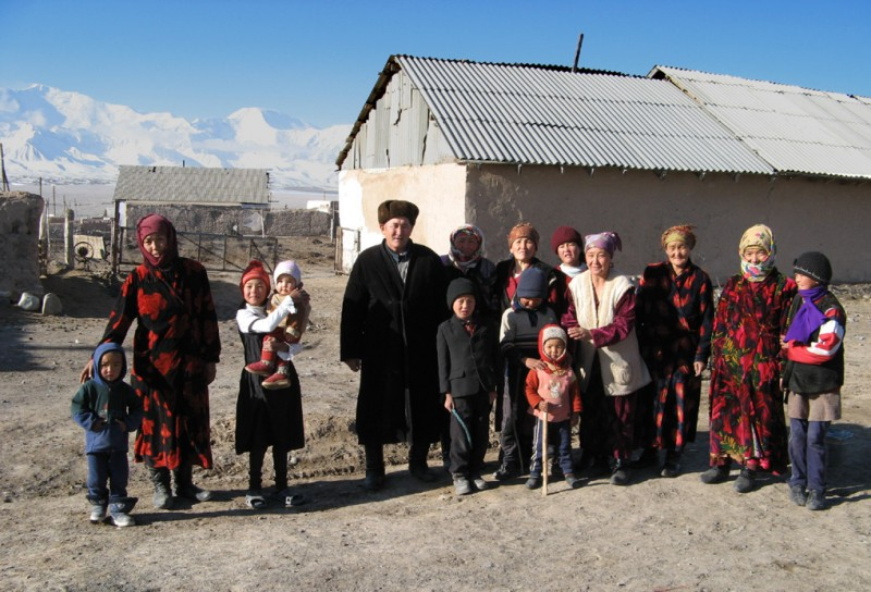 A family in Kyrgyzstan. Wikipedia image.