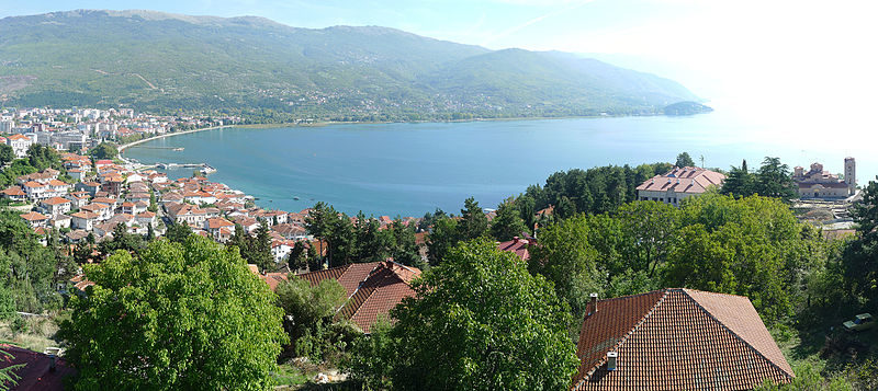 Lake Ohrid in Macedonia. Photo by Alexandar Vujadinovic via Wikimedia (CC BY-SA 4.0)