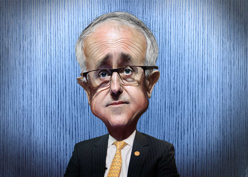 Malcolm Turnbull caricature