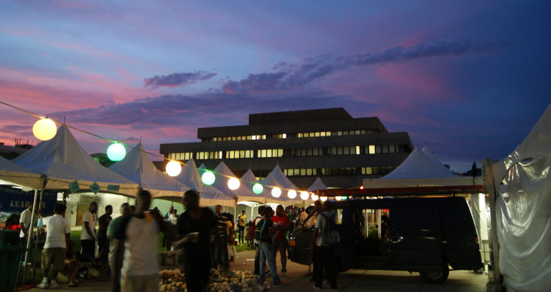 """UWI at sunset""; photo by Aneil Lutchman via CestLaVibe.com, used under a CC BY-SA 2.0 license."