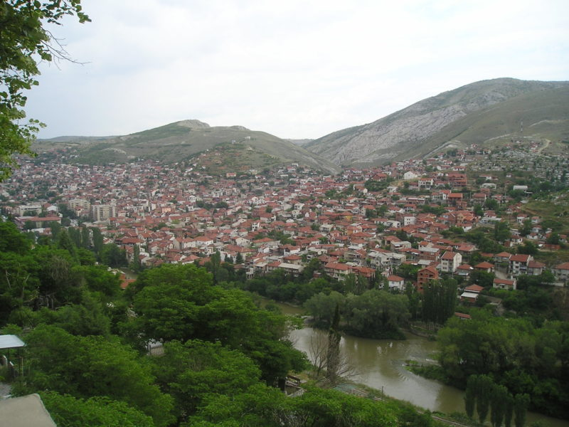 Panorama of Veles, Macedonia. Photo by Wikipedia user Makedonec, CC BY-SA 3.0.