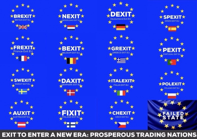 A meme imagining other types of exits from the EU.