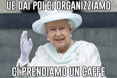 "This Italian meme reads: ""Come on, EU, let us go for a coffee."""