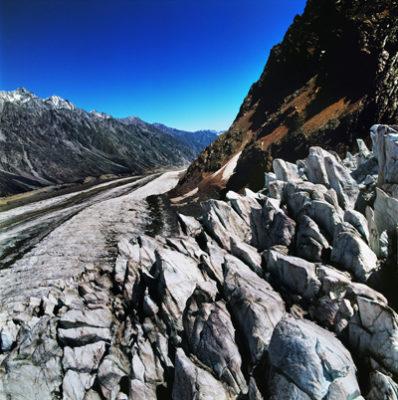 The Bezengi Glacier. Photo by Anton Lange. Used with permission.