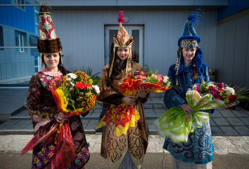 Women in Kazakhstan. Wikipedia image.