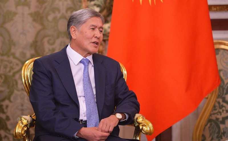 Kyrgyz leader Almazbek Atambayev doing his day job. Russian government photo. Licensed for reuse.