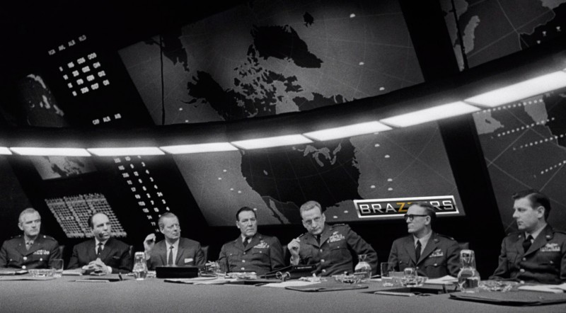 """The War Room"" scene from the 1964 classic ""Dr. Strangelove or: How I Learned to Stop Worrying and Love the Bomb."" Image edited by Kevin Rothrock."