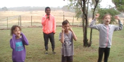 Screenshot from Guarang language video.