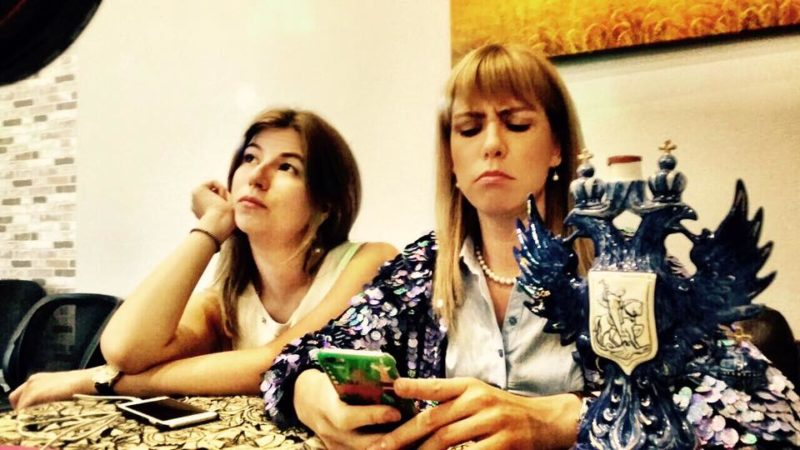 Polina Nemirovsky (left) and Maria Baronova. Photo: Facebook