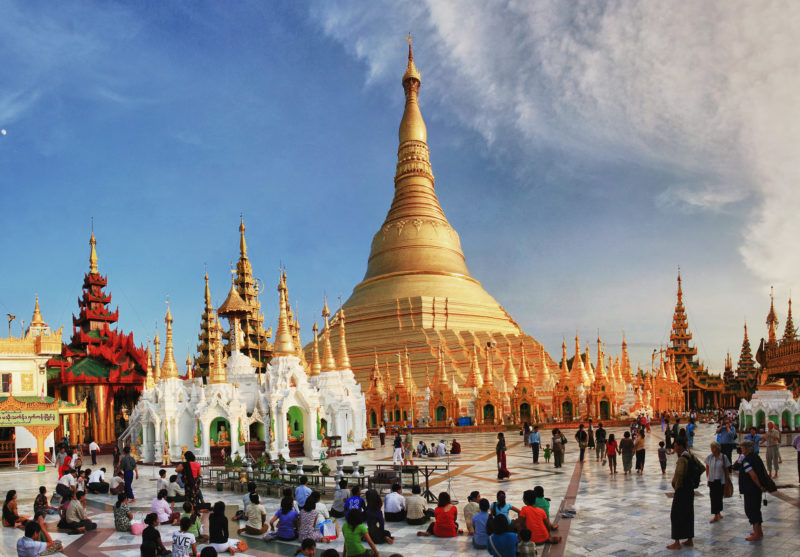 Shwedagon Pagoda. Photo by Michel Meynsbrughen. Flickr. CC License