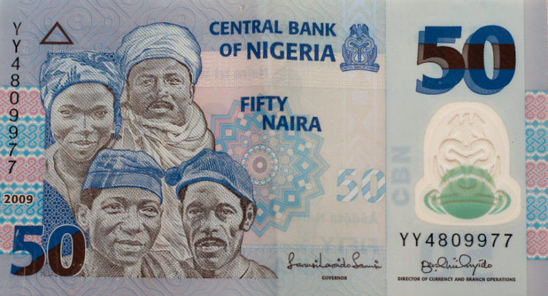 Nigeria's 50 naira bank note bears images of people of Hausa, Igbo and Yoruba ethnicity. The country recognises over 250 ethnic groups and 500 languages. PHOTO: Shardayy (CC BY 2.0)