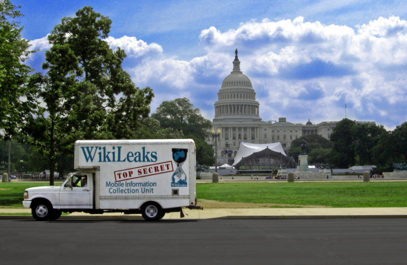Wikileaks Van on Capitol Hill