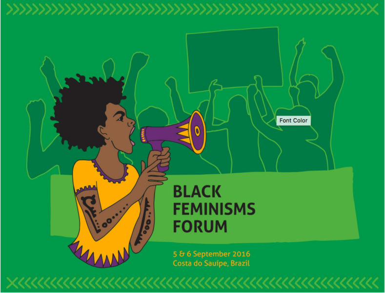 Screen grab from the website of the upcoming AWID Black Feminisms Forum (BFF), carded to take place in Brazil in September 2016.