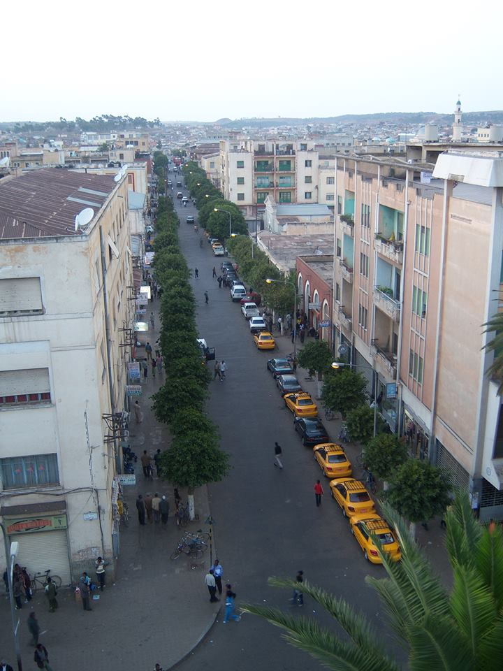 Asmara, Eritrea's capital city. Photo by Yonatan Tewelde, used with permission.