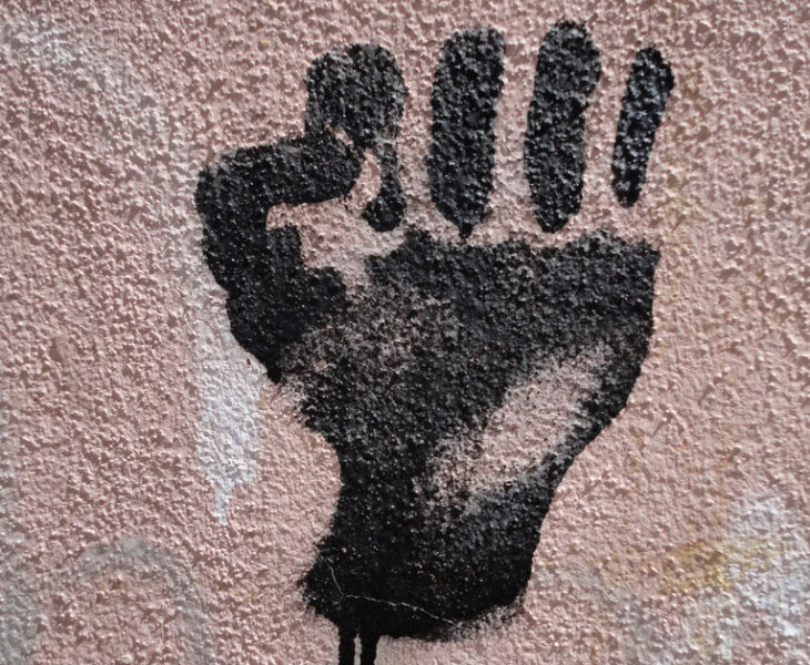 Black Power fist; image by Paul Sableman, used under a CC BY 2.0 license.