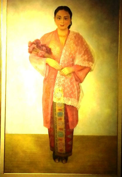 """Malay Girl with Flower"" (Gadis Melayu dengan Bunga) by Diego Rivera. Photo by Arpan Rachman"