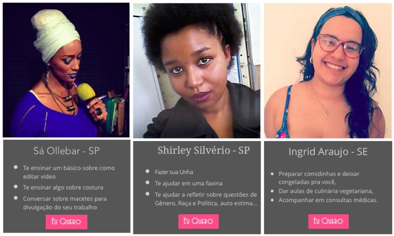 Снимок экрана с официального сайта проекта Mais Amor Entre Nós.