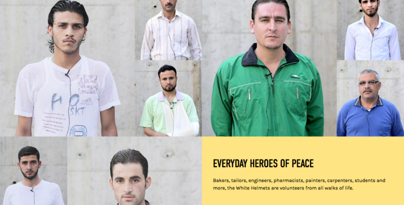 White Helmets volunteers. Source: White Helmets Website.