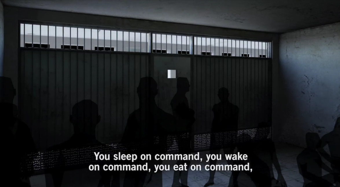 Screenshot from 'Inside Saydnaya', Amnesty International's video report of its findings. Source: YouTube Video.