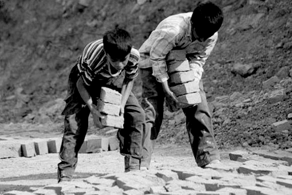 Unidentified child workers in Iran. Photo courtesy of International Campaign for Human Rights in Iran