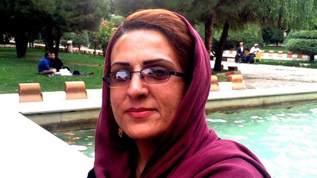 "The wife of a prominent labor activist has been charged with posting ""insulting"" content on Facebook even though she insists she is not a member of the social media site, which is banned in Iran. Image from ICHRI and used with permission."