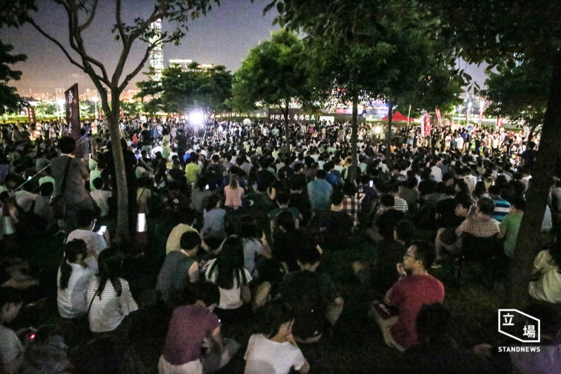 Thousands of protesters showed up in Hong Kong's first pro-independence assembly on August 5. Photo from independent media outlet Standnews. Non-commercial use.