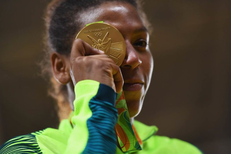 Rafaela Silva, Brazil's first gold medal at the Rio Olympics. Photo: David Ramos/Getty Images, used with permission from Rio2016.