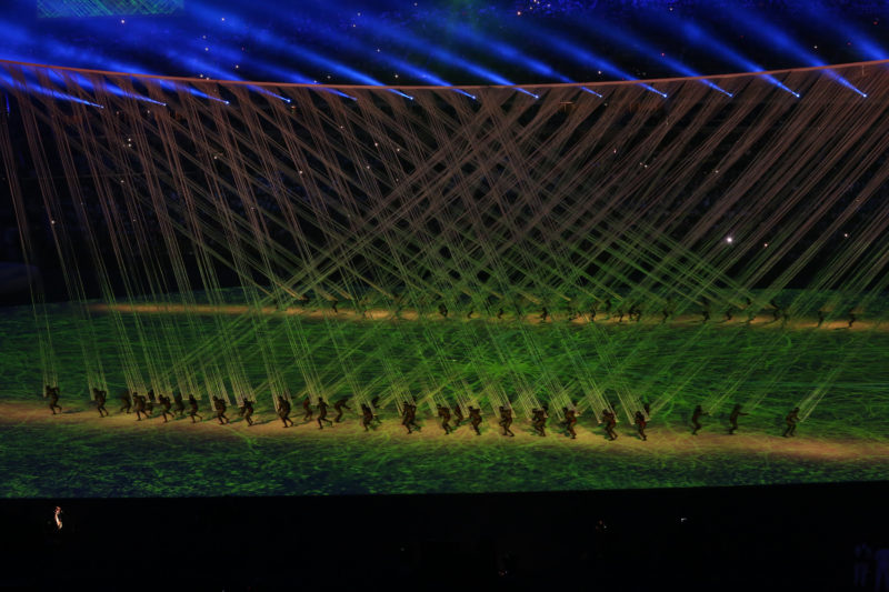 Rio 2016 Olympic Games Opening Ceremony; photo by Andy Miah, used under a CC BY-NC 2.0 license.