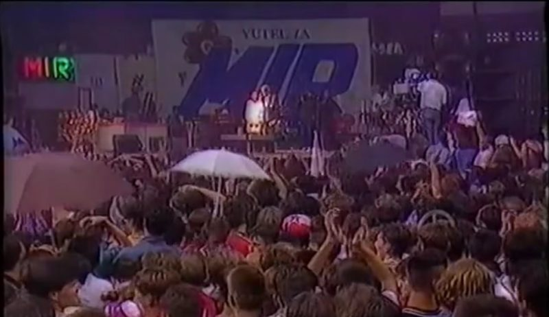 Screen shot from Zetra Project video commemorating an 1991 anti-war concert in Sarajevo, Bosnia and Herzegovina.