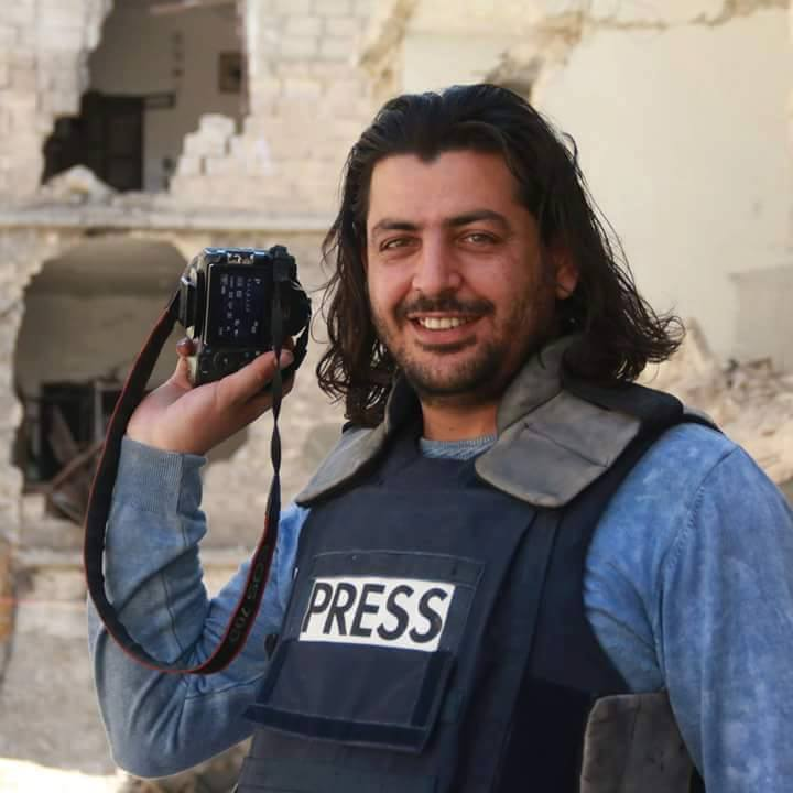 Photo of Shamel Al-Ahmed widely shared on social media following his death. Source: 'Humans of Aleppo' Facebook Page.