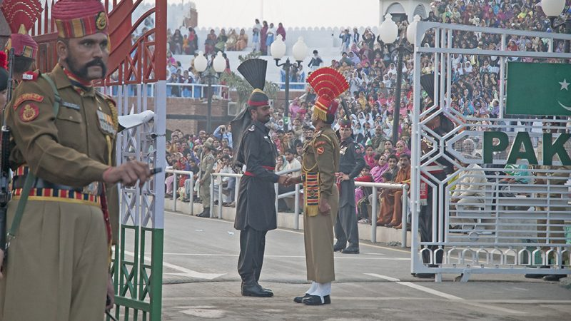 'Beating of Retreat' Ceremony at International Border at Wagha. Image from Flickr by user Koshy Koshy. CC BY 2.0