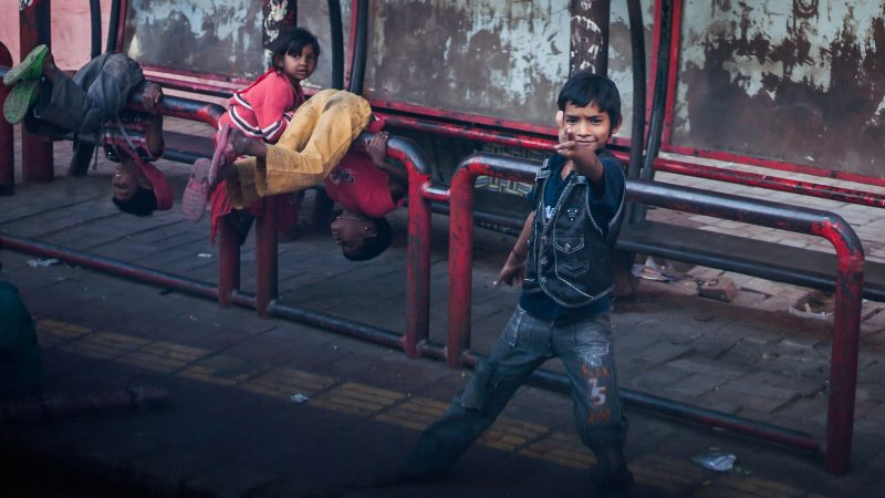Street kids playing in Ahmedabad. Image from Flickr by Sandeep Chetan. CC BY-NC-ND 2.0
