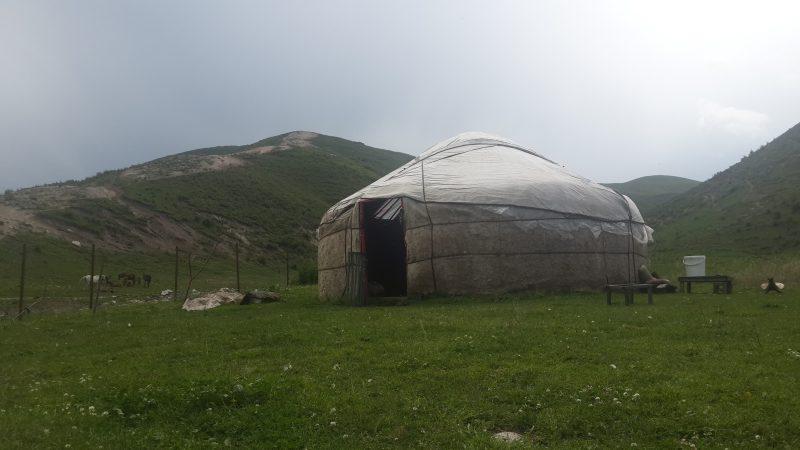 The yurt, a home for the summer. All photos by Elita Bakirova or Erlan Bakirov