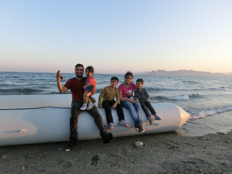 Refugee family arriving in Europe. Photo: International Federation of Red Cross and Red Crescent Societies, CC BY-NC-ND.