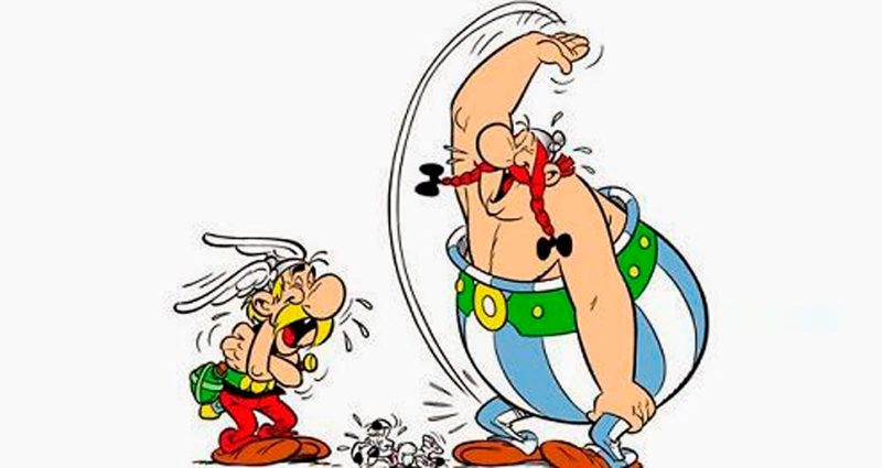Asterix and Obelix, the Gauls (Aimer Béthune – public domain)