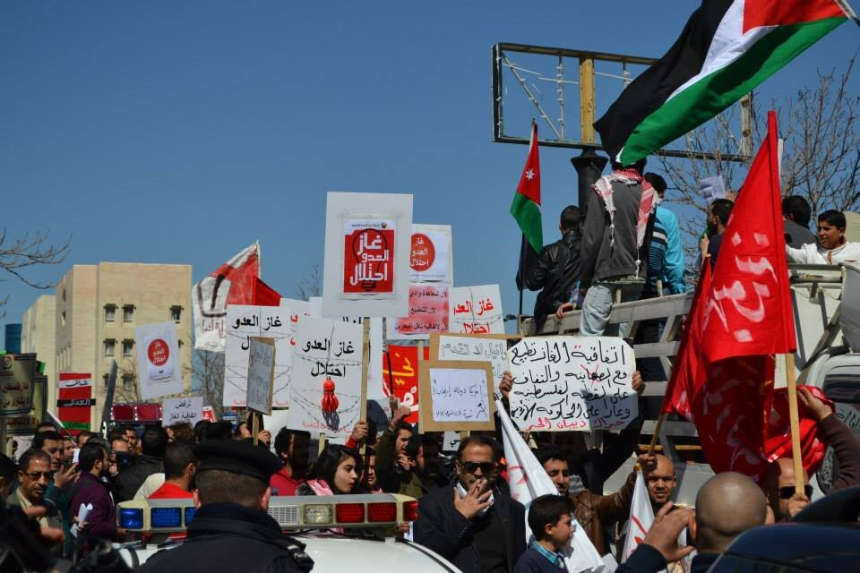 Protest against gas deal in Amman