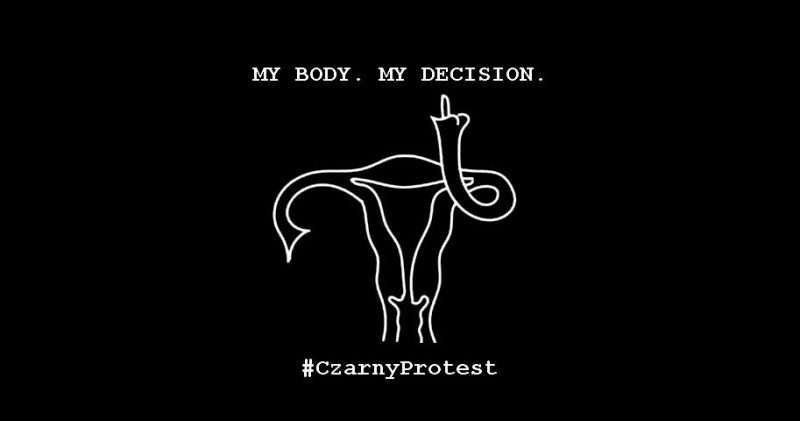 A #CzarnyProtest logo via @clinomanicG.