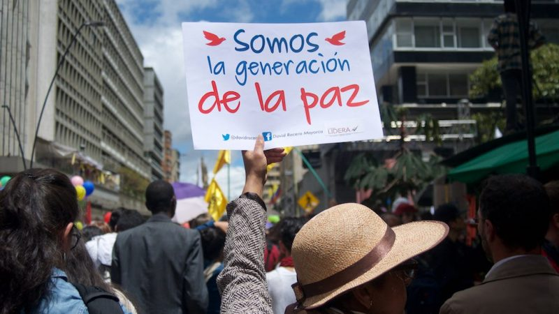 """We're the peace generation"" Photo: Agencia Prensa Rural, published under Creative Commons Licence (CC BY-NC-ND 2.0)"