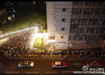 Some polling stations are crowded with voters. via HKFP.