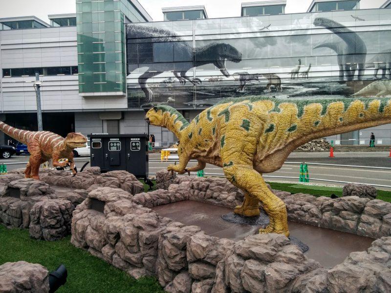 Dinosaurs at Fukui Station.