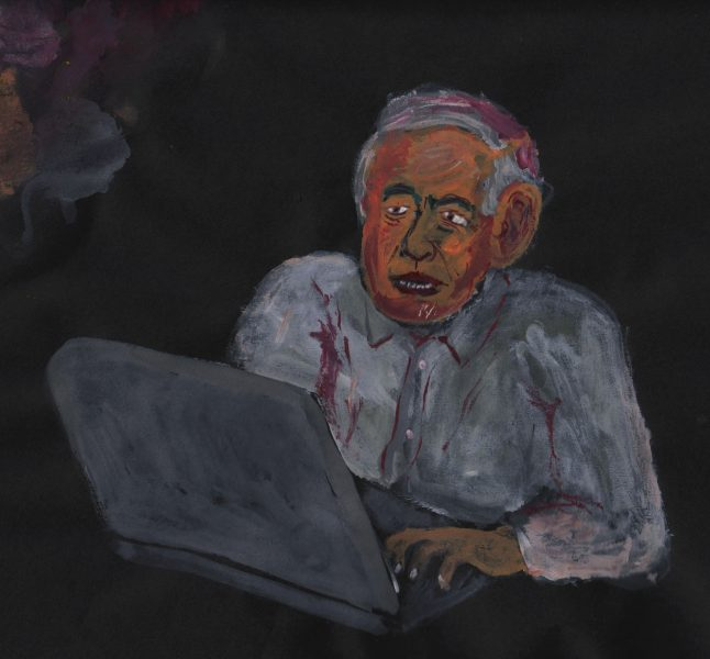 Islam Karimov as depicted by an artist that wished to remain anonymous.