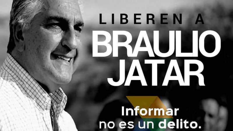 Image used by the campaign demanding Braulio Jatar's freedom on Twitter, widely difussed online.