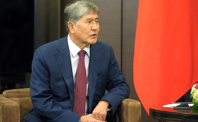 Kyrgyz President Almazbek Atambayev. Image taken from Russia government website.