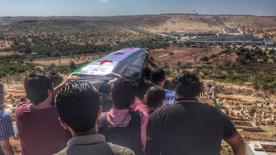 Shamel's funeral. Dated September 3, 2016. Shared by Mousa Al Omar on Twitter.