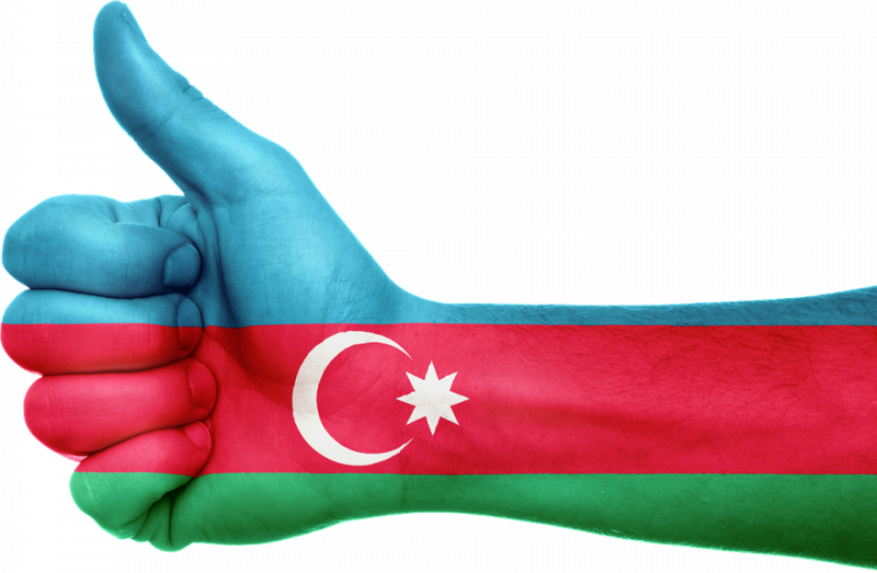 Azerbaijani flag interpretation. Pixabay image licensed to reuse.